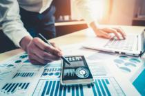 banca - reportes de negocios - data