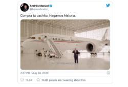 AMLO-López Obrador-Avión presidencial-Cachito