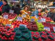 Puesto de frutas en Seattle