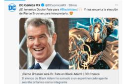 Pierce Brosnan se integra al elenco de Black Adam