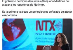 Sanjuana Martínez es señalada por Estados Unidos