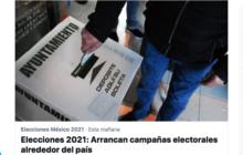Las campañas políticas tendrán una duración de 60 días.
