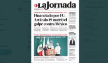 La Jornada ha recibido críticas debido a su portada