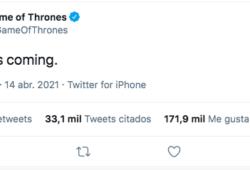 Game of Thrones lanzó este tuit