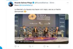 Salinas Pliego habló sobre la desigualdad.