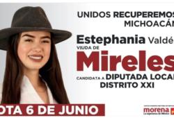 La imagen de campaña donde se destaca a Mireles, deja mucho que desear
