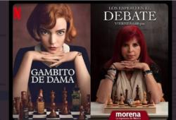 Layda Sansores replicando Netflix