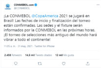 Copa America será en Brasil