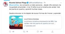 Salinas Pliego y su emprendimiento