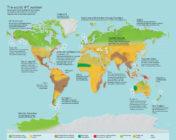 mapa tierra con 4 grados mas diseño clima