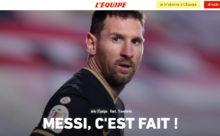 Messi al PSG por dos temporadas
