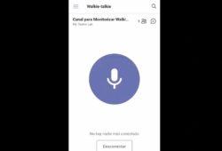 walkie-talkie de Microsoft Teams