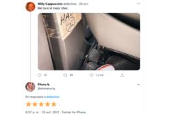 conductor Uber pide no hablar